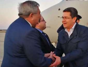 Presidente Hernández llega a Washington para exponer ante JID logros de seguridad